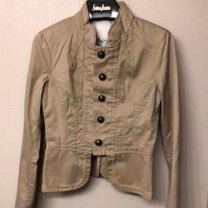 Diesel Women's Jacket Cotton Beige Size M Khakis